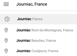 google maps for Journiac, France.png