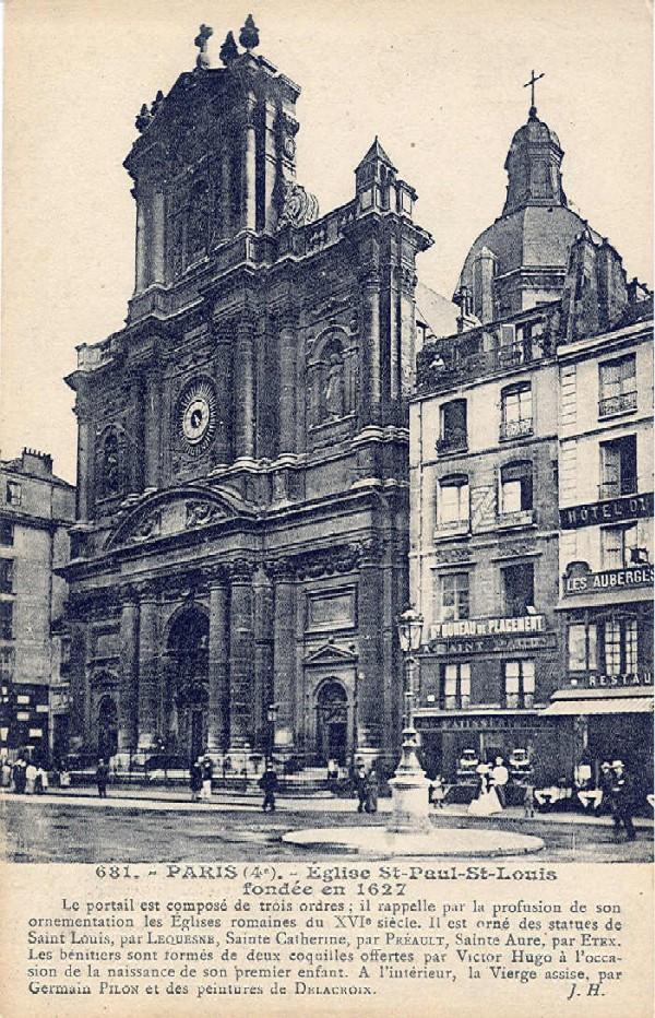 st Paul st Louis Paris Eglise st Paul st Louis Fondee